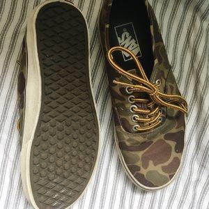 66a74c4f58 Vans Shoes - Vans Authentic Waxed Canvas Camo
